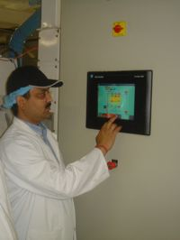 Touch Screen Rice Mill Control Panel